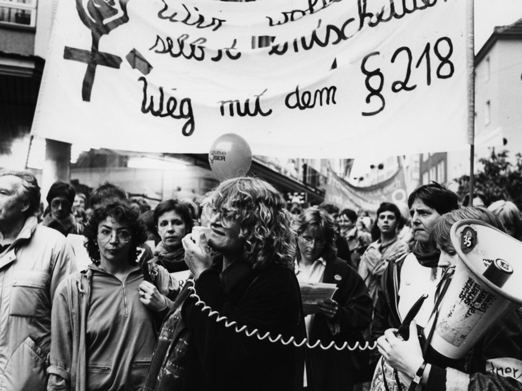 Demonstration gegen den Paragraphen 218 in Aachen, 1986, Copyright: FMT (Signatur: FT.02.089)
